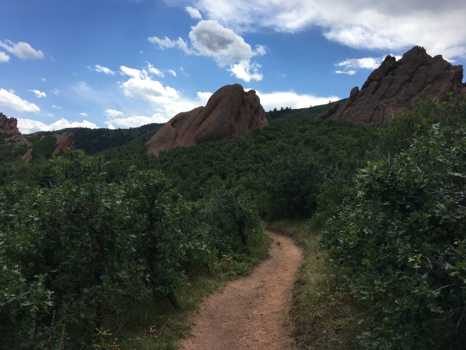 Roxborough State Park trails, rocks and sky
