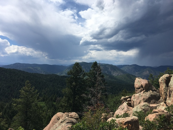 Dramatic skies from the Carpenter Peak trail