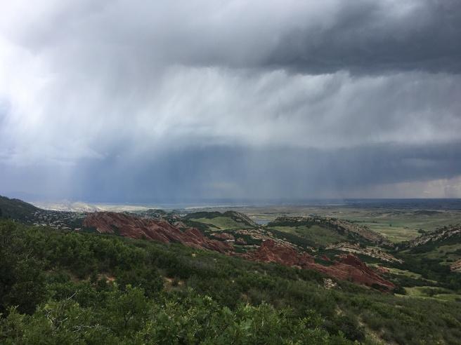 Rain in Roxborough State Park, Carpenter Peak trail